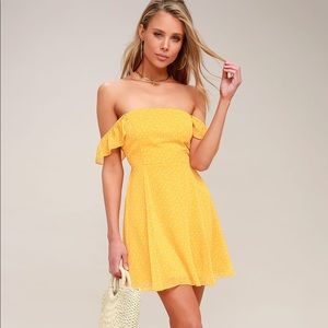 LuLu's 'Dots of You' Yellow Dress